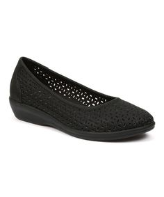Look at this G.H. Bass & Co. Black Broadway Leather Flat on #zulily today!