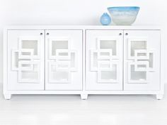 Crosby Media Console, White Lacquer - modern - media storage - by Clayton Gray Home Hallway Storage, Media Cabinet, Living Room Inspiration, Contemporary Decor, Entertainment Center, Accent Decor, Family Room