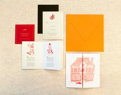 Super gorgeous wedding invitation by Jessica Guy