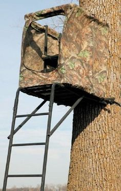 Tree Stand The Maxim Deer Blind Kit Camouflage Ladder Climbing Hunting Tree Easy #BigGame