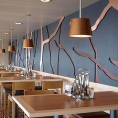 HOMAPAL fém dekorlemezek Restaurant ?Anckelmannsplatz? TUI Mein Schiff 3 Tillberg Design of Sweden #restaurantdesign