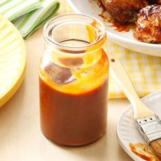 Sweet & Spicy Barbecue Sauce Recipe -I've never cared that much for storebought barbecue sauce. I just like to make things myself from scratch including this spicy, deep red-brown sauce. You'll find it clings well when you slather it on grilled meat. —Helena Georgette Mann, Sacramento, California