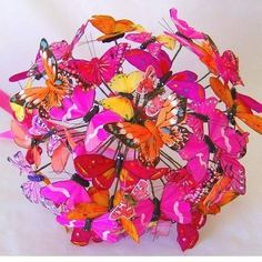 Can defiantly see a wonderland themed wedding around this bouquet of butterflies!