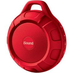 Isound Isound6706 Duratunes WaterResistant Bluetooth Speaker Red * You can get more details by clicking on the image.