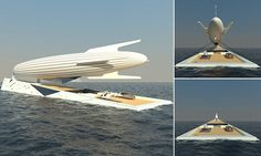 Daily Mail Uk, Yacht Design, Zeppelin, Surfboard, Boats, Architecture Design, The Incredibles, How To Plan, Archipelago
