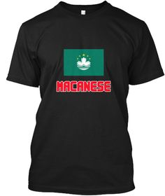 Macanese Flag Design Black T-Shirt Front - This is the perfect gift for someone who loves Macanese. Thank you for visiting my page (Related terms: I Heart Macau,Macau,Macanese,Macau Travel,I Love My Country,Macau Flag, Macau Map,Macau Language, Ma #Macanese, #Macaneseshirts...)