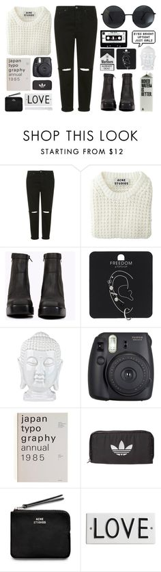 """""""Girls -The 1975"""" by arditach ❤ liked on Polyvore featuring Topshop, Acne Studios, Jeffrey Campbell, Fuji, adidas Originals, Rosanna, Supersmile, women's clothing, women and female"""