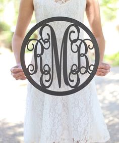 Unfinished Wood Rustic Chic Monogram Family Wall Sign #zulily #zulilyfinds