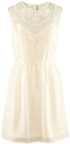 To find out about the Beige Sleeveless Hollow Lace Chiffon Tank Dress at SHEIN, part of our latest Dresses ready to shop online today! Dress Me Up, Dress Skirt, Dress Lace, Confirmation Dresses, Mode Inspiration, Tank Dress, Flare Dress, Pretty Dresses, Dress To Impress