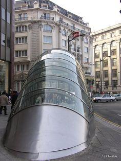 Boca de Metro -Bilbao. Subway entrance in Bilbao.