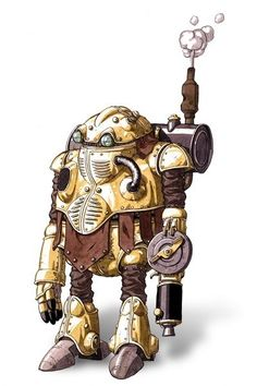 Steampunk bot by Akira Toriyama. Reminds me of a steampunk version of an early Sonic robot (from the manga)