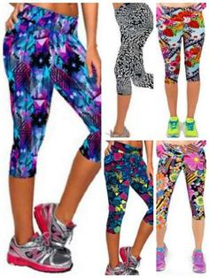 Bright printed yoga