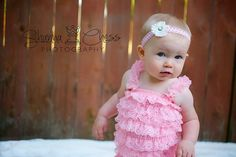 Pink Petti Romper Newborn Baby Infant Photo Prop by TheRogueBaby, $14.95