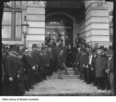 Opening of Post and Telegraphs Office (Treasury Buildings) in St. Georges Terrace, 1889.
