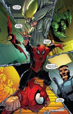 A Ditko-esque splash page ending Superior Spider-Man #12