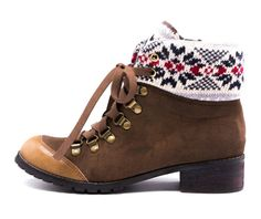 Brown Kirby Lace Boots