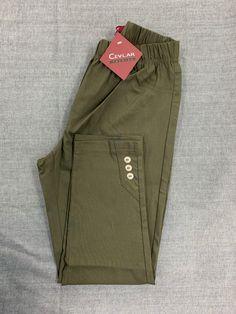 Spodnie z bengaliny Cevlar B03 kolor khaki - Big Sister
