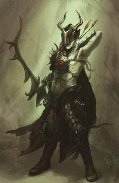 Dark_elf_concept_art_by_Lithriel (Ashley Walters) Dark Fantasy, Fantasy Concept Art, Fantasy Rpg, Fantasy Artwork, Fantasy Races, Fantasy Warrior, Fantasy Wizard, Humanoid Creatures, Fantasy Kunst