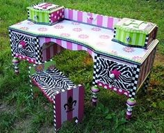 Funky Hand Painted Furniture | Funky Handpainted Furniture U0026 Acces. / The  Decorative Paintbrush