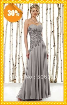 2013 NEW Sliver Elegant Embriodery Beaded Chiffon Free Shipping Mother of the bride/groom Dresses Dress Evening gown dress $124.21