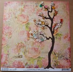 Button Tree Wall Art – Craft projects for every fan! Button Tree Canvas, Button Tree Art, Button Art Projects, Button Crafts, Craft Projects, Craft Ideas, Hippy Art, Wall Art Crafts, Tree Wall Art