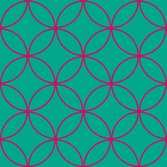 Encircled ~ Emerald and Raspberry fabric by peacoquettedesigns on Spoonflower - custom fabric