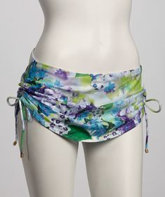 Take a look at this Cool Bohemian Blooms Skirted Bikini Bottom by Jantzen on #zulily today!