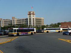 MBTA New Flyer D40LF bus 0648 and MBTA RTS bus 0259 at Sullivan Square Station