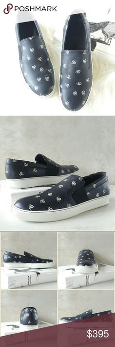 ♡HP♡ LANVIN spider print leather sneakers Lanvin slip-on skate sneaker in spider-print calf leather. Round toe. Notched vamp. Stretch-gore insets at sides. Easy slip-on style. Leather lining and insole. Contrast TPU rubber outsole. Made in Portugal.  Size: IT 44 / US 11  NWB. Never worn. Comes with original box and dust bag. Can provide more pictures and info upon request. Lanvin Shoes Sneakers