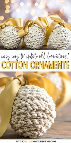 Easy Christmas Decorations to Make for your Rustic Holiday Tree., DIY and Crafts, Simple DIY Christmas decorations to make for your holiday tree. These easy crafts ornaments are the perfect way to update old holiday decorations. Navidad Simple, Navidad Diy, Diy Christmas Decorations, Diy Christmas Ornaments, Easy Ornaments, Decoration Crafts, Christmas Tree Decorations To Make, Craft Decorations, Reindeer Ornaments