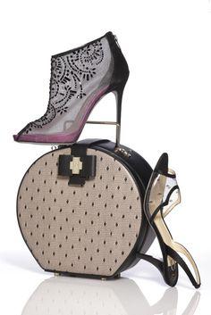 Spring 2013 Trend: Boudoir Beauties:  From top: Rene Caovilla bootie; Jason Wu bag; O Jour shoe.