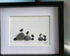 Irish Pebble Art / Customised Framed Picture Love Cats