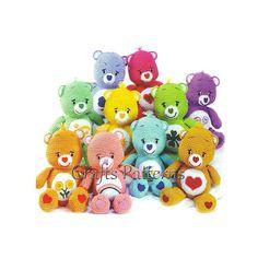 Crochet Toys Pattern, Amigurumi pattern, Care Bears, vintage crochet pattern