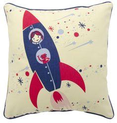 Rocket pillow for a girl.