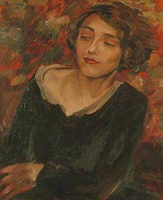♀ Painted Art Portraits ♀  David Bomberg | Kitty, the Artist's Sister, 1929