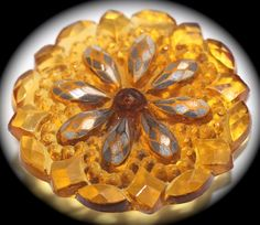 Old Lacy Amber Glass Button  Medium by KPHoppe on Etsy~~~~Hoppe Glass~~~~http://wwHoppe Glass http://www.hoppeglass.com/store/c121/Buttons.html
