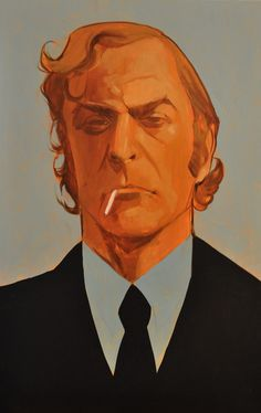 Michael Caine by Phil Noto (American comic book artist and illustrator)