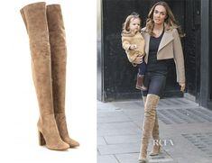 Tamara Ecclestone's Gianvito Rossi Suede Over-The-Knee Boots