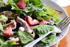 Berries + Kale + Chard + Spinach + Feta = Amazing Summer Detox Salad