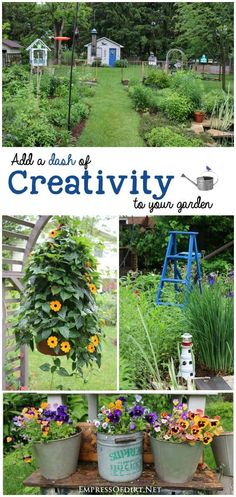 Add a dash of creativity to your garden with these colorful ideas!