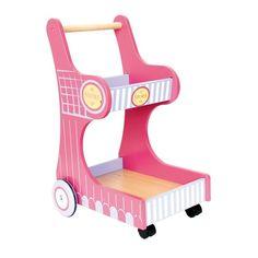 Carrito de compra de #madera de juguete para #niños #educacion #motricidad