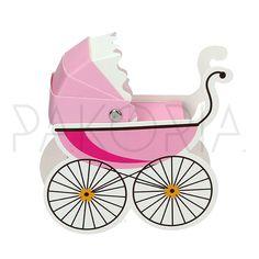 Pudełko WÓZEK DZIECIĘCY różowy. Idealne na chrzest, roczek, baby shower, gender party, kinder party. Inspiracje. pakoria.pl Inspiration, pink cute baby carriage.