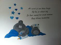 Muurschildering Me to You op een babykamer door StijlvolleMuur.nl