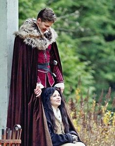 They are a couple in real life I love them Once upon a time Snow and Charming