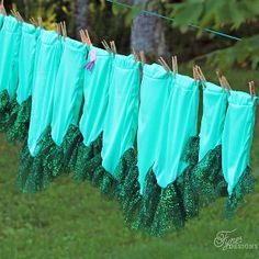 Whether your little girl wants to play pretend, is planning on a mermaid-themed birthday party, or needs a Halloween costume idea, this Quick Mermaid Skirt Tutorial is going to make her insanely happy. Taking only minutes to make and easily created out of any fabric you would like to use, this girl's skirt pattern is quirky and cute.