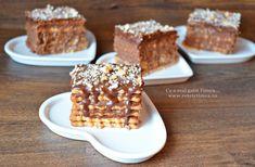 Tort de biscuiti cu crema de ciocolata si rom - Retete Timea Krispie Treats, Rice Krispies, Yams, Dessert Recipes, Desserts, Carne, Waffles, Biscuits, Cereal