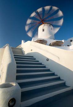 Windmill on Santorini island , Greece Malta, Places To Travel, Places To Go, Greek Isles, Santorini Greece, Santorini Island, Le Moulin, Greece Travel, Places Around The World