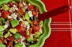 Lisa's Cross-Cultural Salsa with Tomato, Avocado, Lime, and Feta — Punchfork