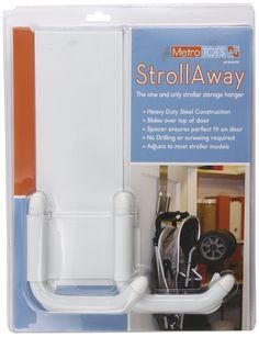 Amazon.com : StrollAway Over the Door Stroller Storage Hanger, White : Baby Stroller Connectors : Baby