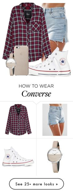 """Figure"" by mallorimae on Polyvore featuring ASOS, Rails, Converse and Calvin Klein"